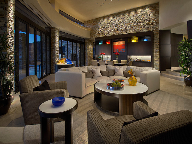 Great Room - Contemporary - Living Room - phoenix - by Angelica Henry ...