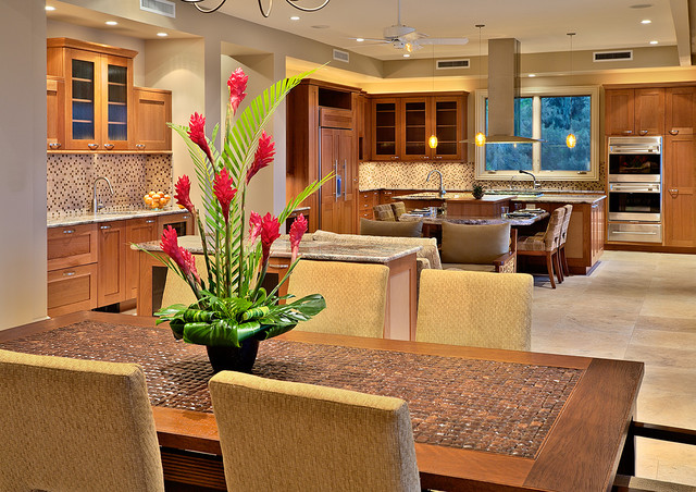 Great Room Tropical Living Room Other Metro By