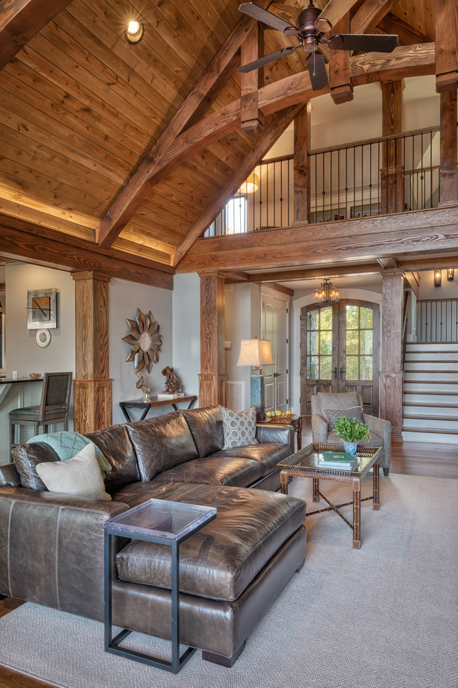 Mountain style living room photo in Other
