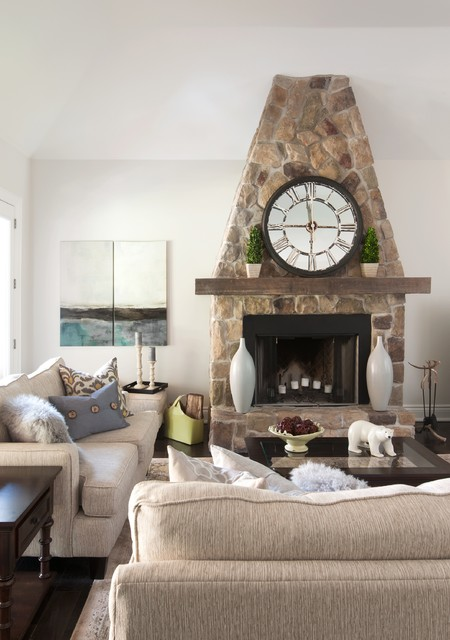 Inspiration for a transitional living room remodel in Vancouver with white walls