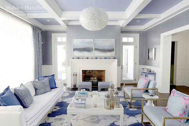 Great room by mabley handler interior design at the 2013 for New york style living room ideas