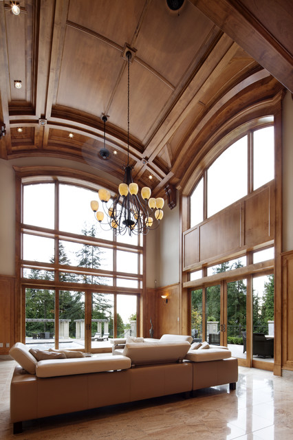 Great Room Ceiling traditional-living-room