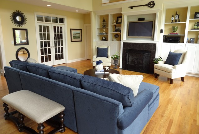 Great room design traditional living room nashville for Traditional great room designs