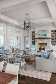 Great Room Unique Farmhouse Living Room Design By Forte Building Group Llc Houzz