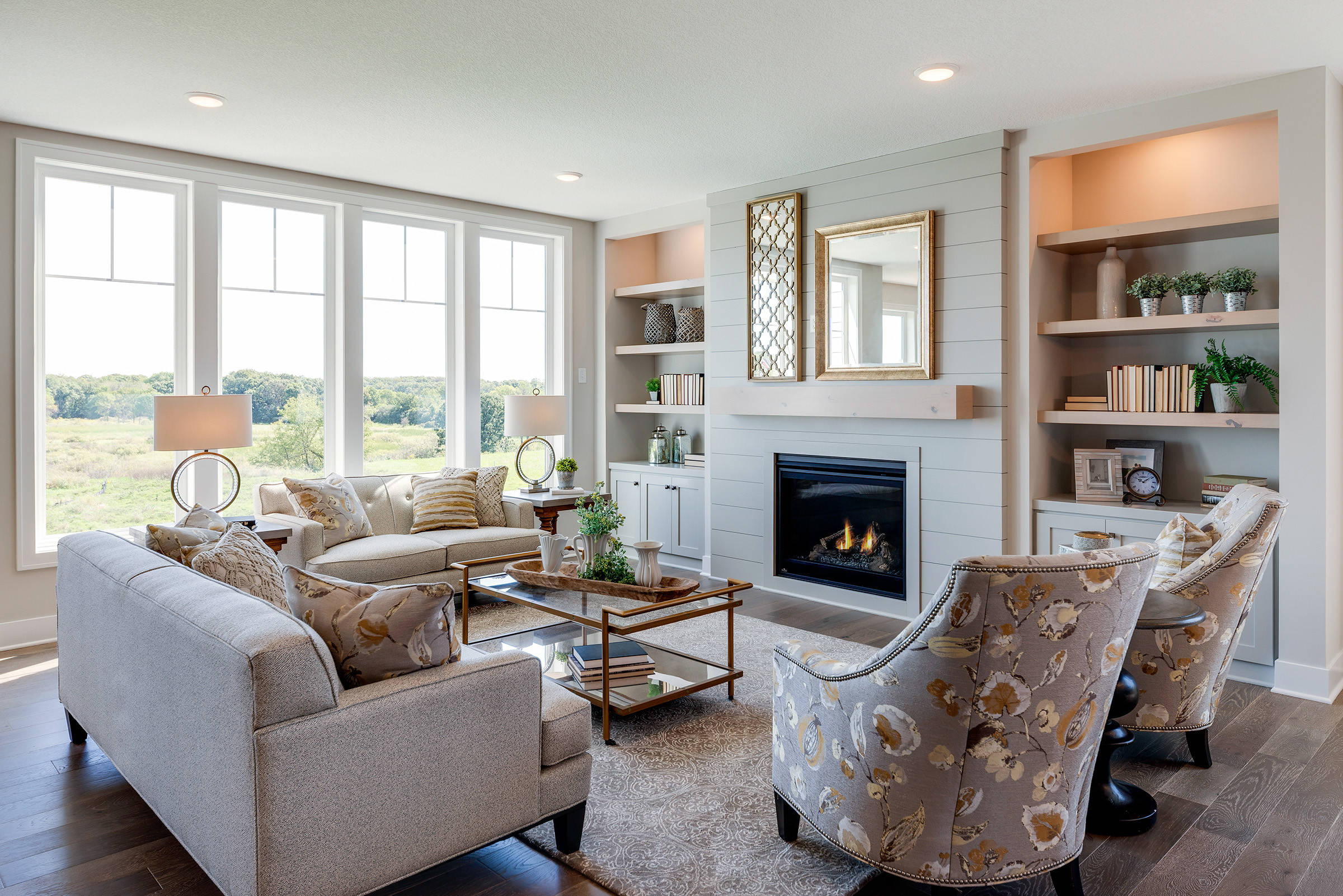75 Beautiful Farmhouse Living Room With Gray Walls Pictures Ideas December 2020 Houzz