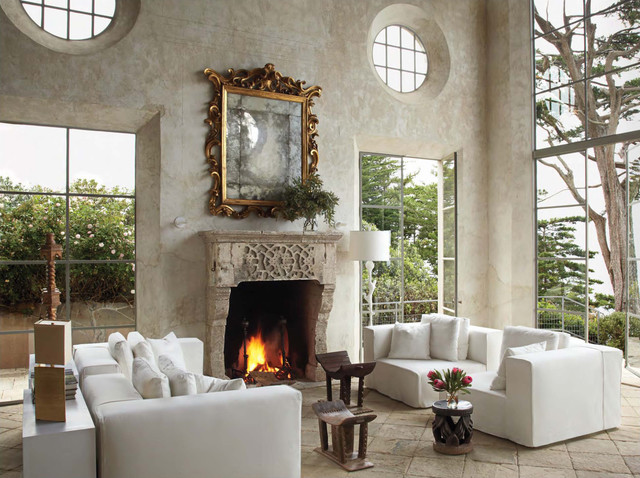 Great Room mediterranean living room