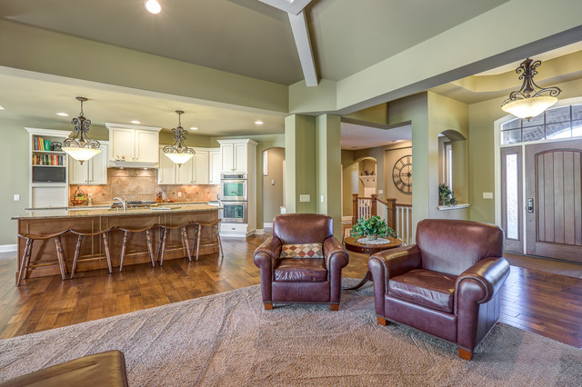Great Room Transitional Living Room Other Metro By
