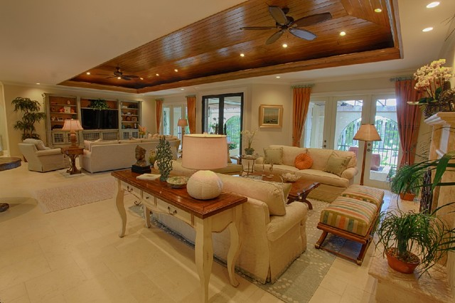 Great room traditional living room miami by for Traditional great room designs