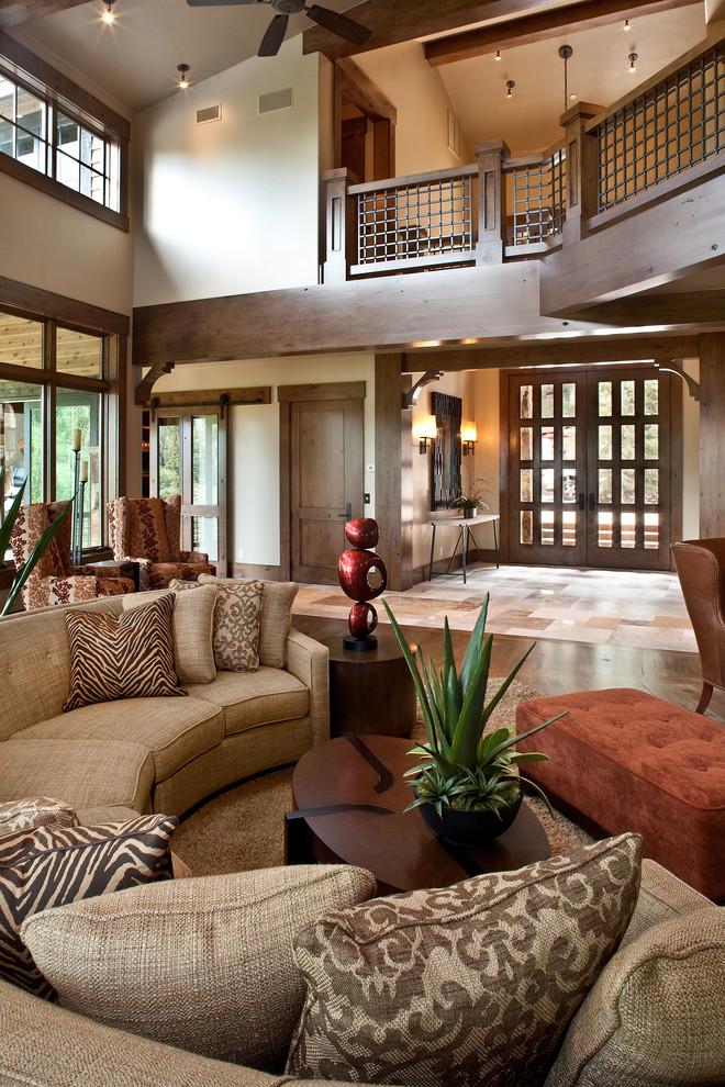 Inspiration for a transitional living room remodel in Salt Lake City