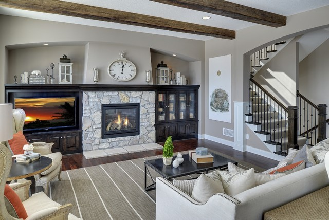 Great Room - Kintyre Model - 2014 Spring Parade of Homes - Transitional - Living Room ...