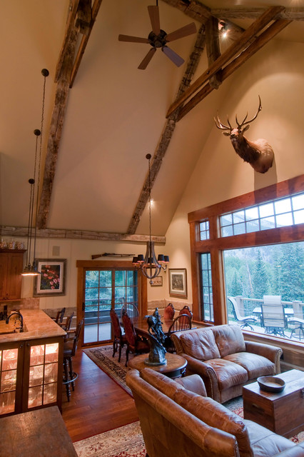 Great Room - Literally rustic-living-room
