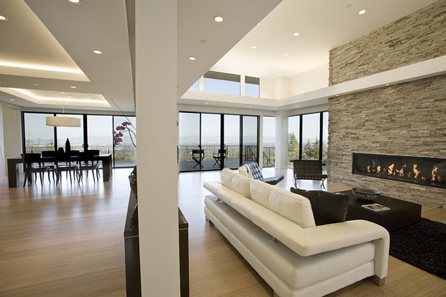 Contemporary Living Room By Mark English Architects AIA