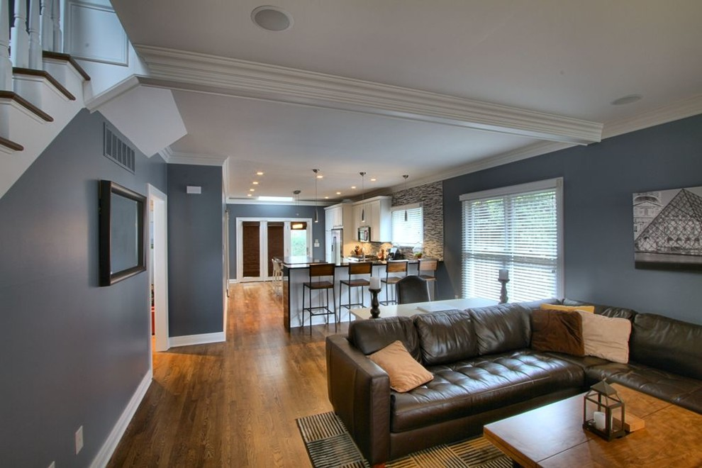 Inspiration for a contemporary living room remodel in Indianapolis