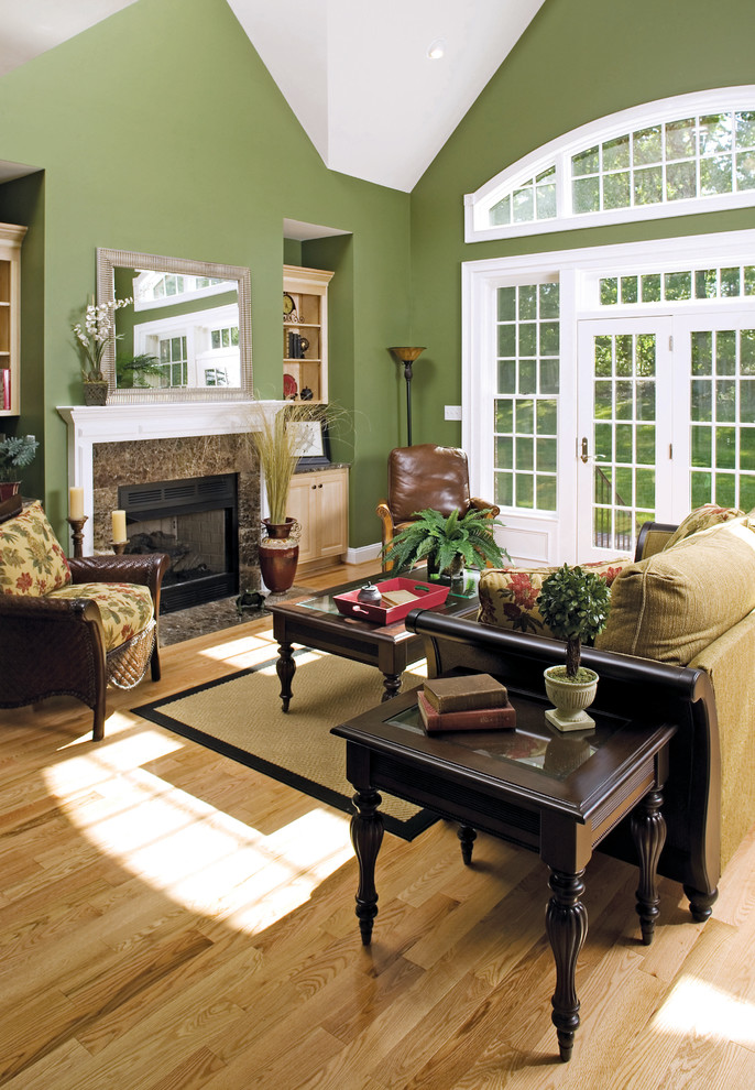 Inspiration for a timeless living room remodel in Charlotte