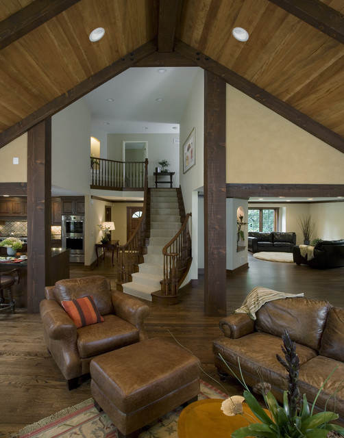Great Room Staircase Traditional Staircase Chicago