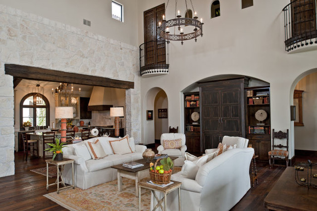 Great Rooms mediterranean living room