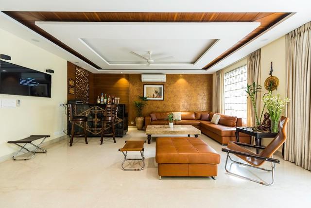 Greater Kailash Residence modern-living-room