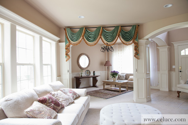 green chenille swag valance curtains traditional