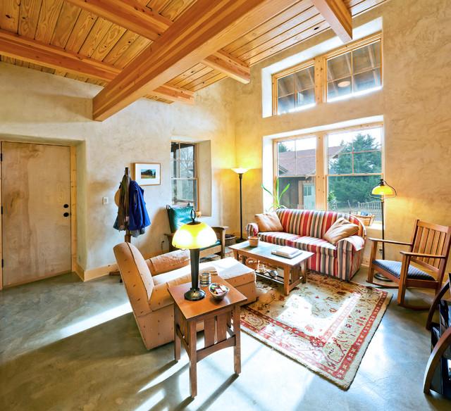 Green Cottage living room rustic-living-room