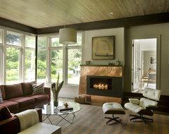 Green Gambrel Living Room contemporary-living-room