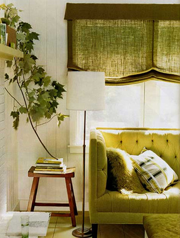 green sofa contemporary-living-room