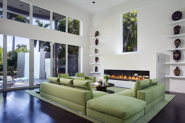 Green Sofa Contemporary Living Room Miami By Toby Zack Designs