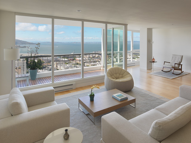 Green Street Condo modern living room  Modern Living Room San Francisco by