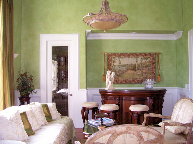 Green with Envy traditional-living-room