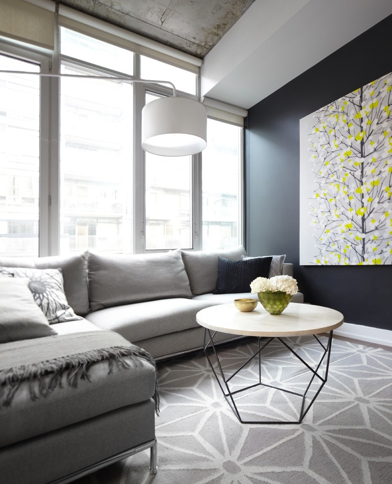 Inspiration for a contemporary living room remodel in Toronto