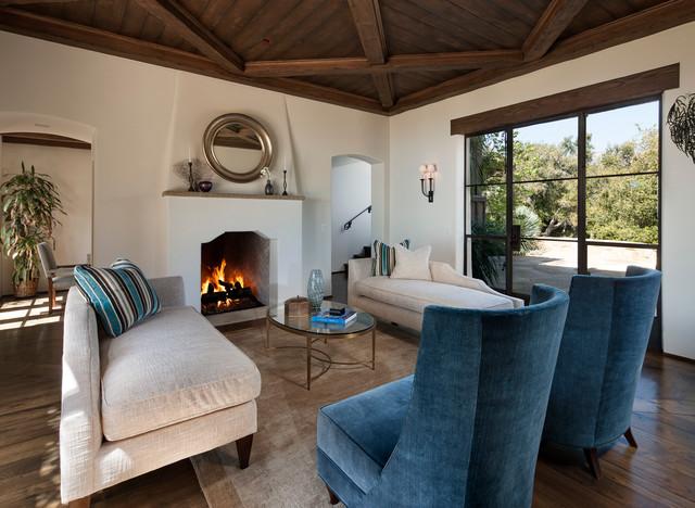 Greene Residence Mediterranean Living Room Santa Barbara By Designarc