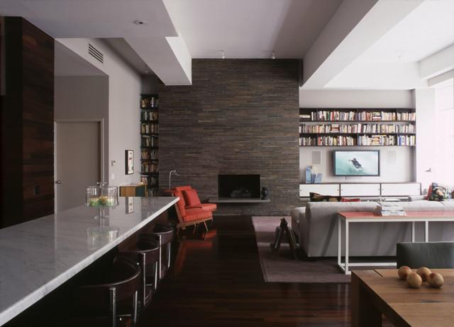 Greene Street Loft contemporary-living-room