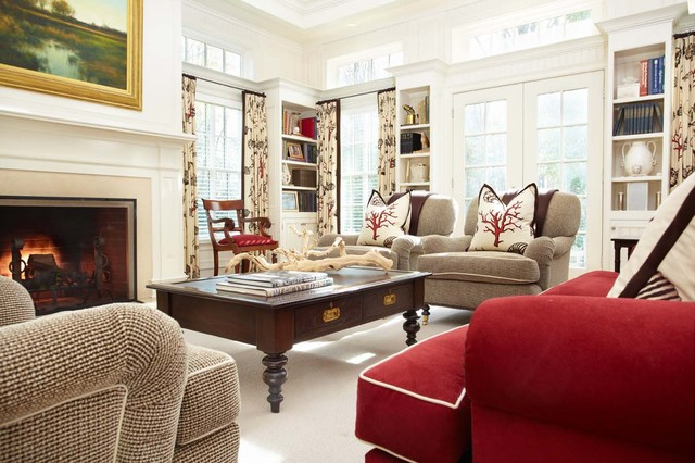 traditional family room by Tiffany Eastman Interiors, LLC