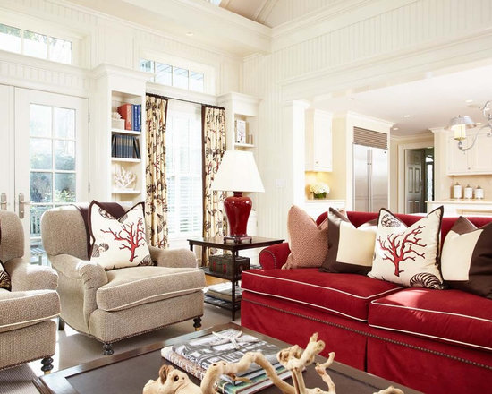 Red couch home design ideas pictures remodel and decor Red accents for living room