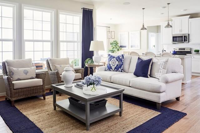 Greenwich Knox Model 2017 beach-style-living-room