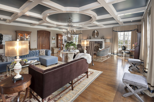 How Do You Create A Coffered Ceiling With A Circle In The