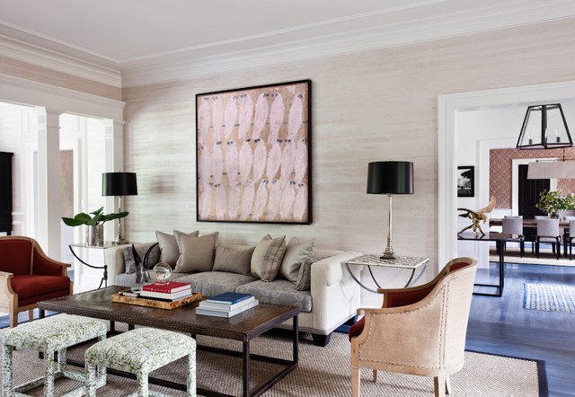 greenwich transitional living room new york by thom filicia inc. Black Bedroom Furniture Sets. Home Design Ideas