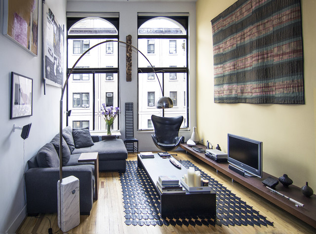 Greenwich Village Loft Living Room Modern