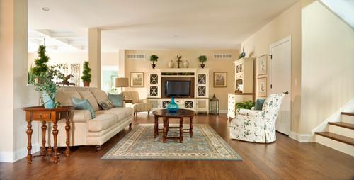 Craftsman Living Room by Greenwood Home Builders Beracah Homes