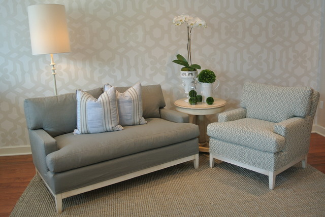 Greige Living Room With Cream Accents Transitional Living Room