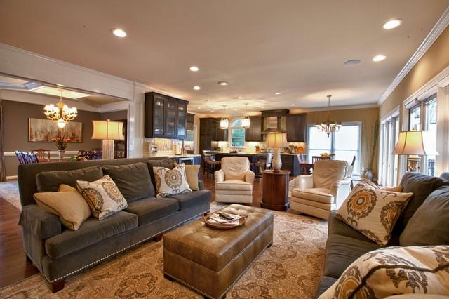 Brown Gold Living Room Modern House