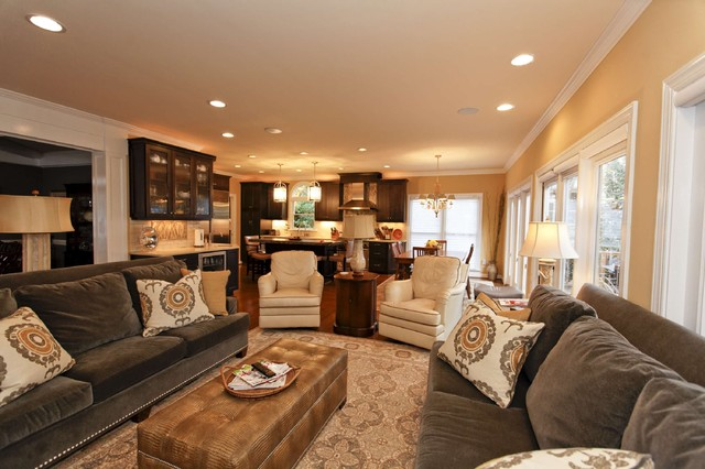 Grey And Gold Living Room Remodel And New Furnishings Contemporary Living Room Raleigh By Design Works Studio