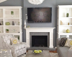 Grey and Green Living contemporary-living-room