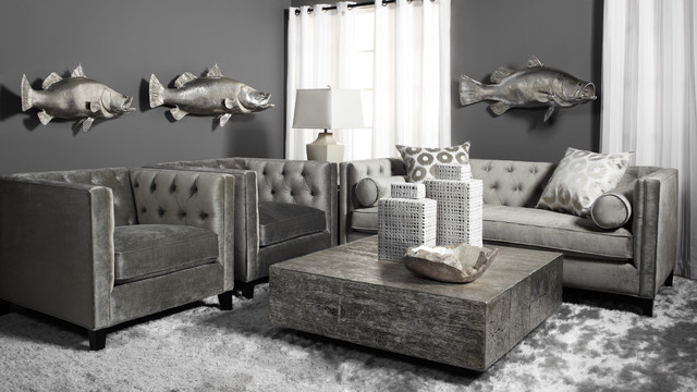 Grey Is The New Neutral Contemporary Living Room