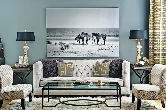 Grey matters eclectic living room houston by high for Home fashion