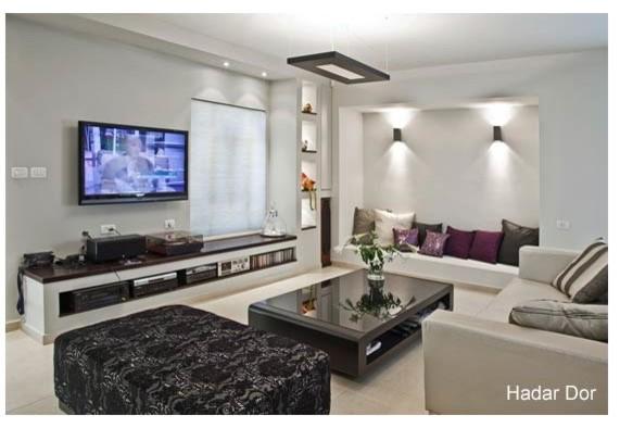 Grey white house modern living room