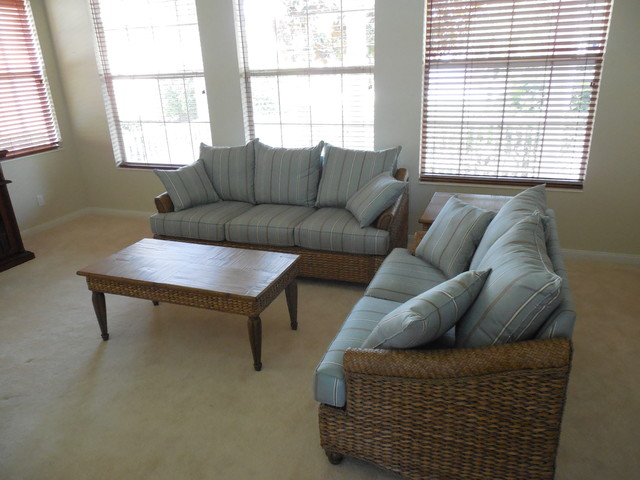 Grey Wicker Sofa And Loveseat