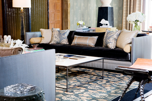 Greystone Estate contemporary-living-room