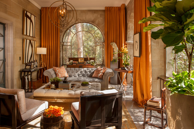 Greystone Mansion Solarium Lounge Traditional Living