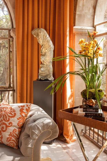 Greystone Mansion Solarium Lounge traditional