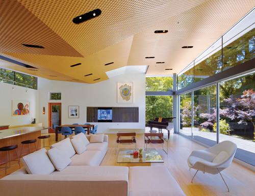 Living Room PVC False Ceiling Design